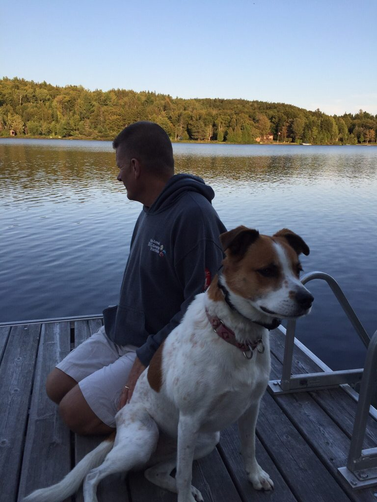Maggie on the dock
